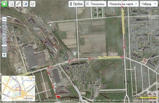 площадке города Пушкина