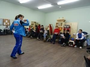 Людмила Ейбогина на первом мастер-классе по фристайлу в Пушкине